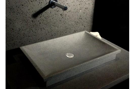 vasque en pierre granit de salle de bain à poser - dune - Vasque En Pierre Salle De Bain