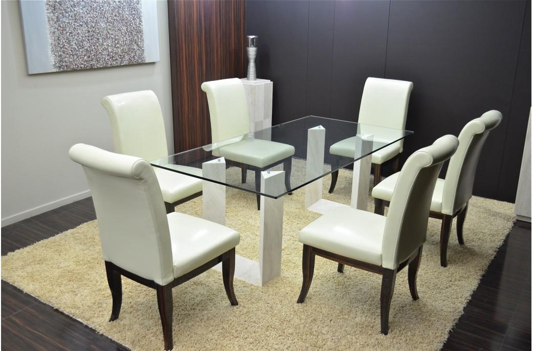 table salle manger en marbre persan naxos voir taille relle - Salle A Manger En Marbre