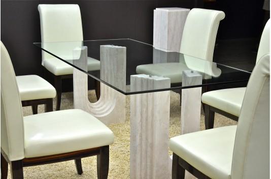 Table de salle à manger haut de gamme en Marbre Persan - ROMA