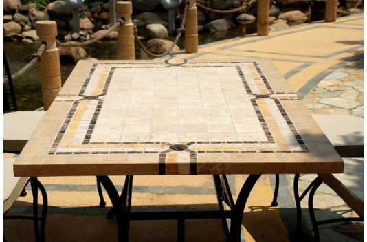 Table rabattable cuisine paris table de jardin en fer forge mosaique for Achat table de jardin mosaique