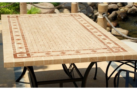 Fotos table plateau marbre rouge pied en fer forg - Table de jardin plateau en marbre ...