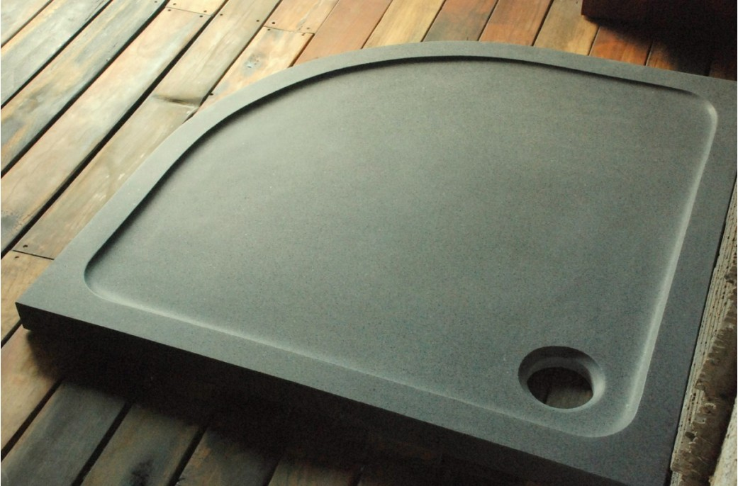 receveur de douche en granit 1 4 rond 90x90 lagoon. Black Bedroom Furniture Sets. Home Design Ideas