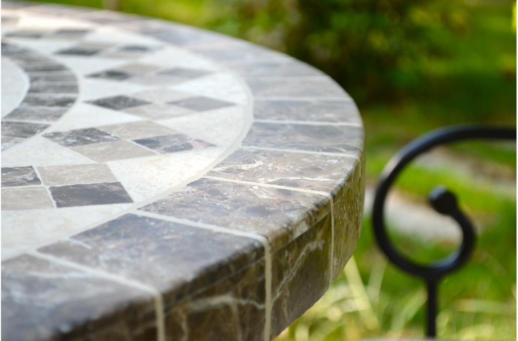 Ovali Table Mosa Que De Jardin 240 180 160cm Ovale En