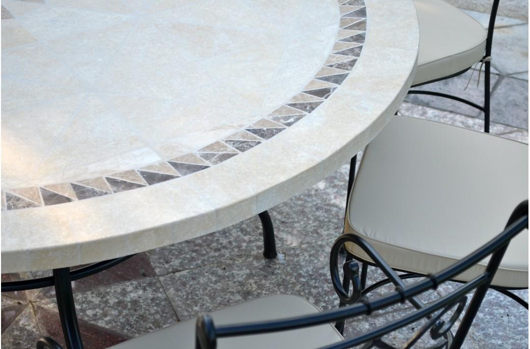 Table de jardin ronde grand diametre des for Grande table ronde de jardin