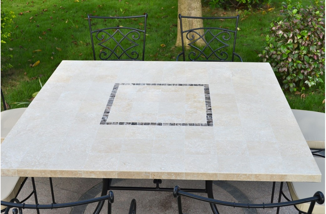 Capri table mosa que carr e pour ext rieur int rieur en for Table exterieur 140x140