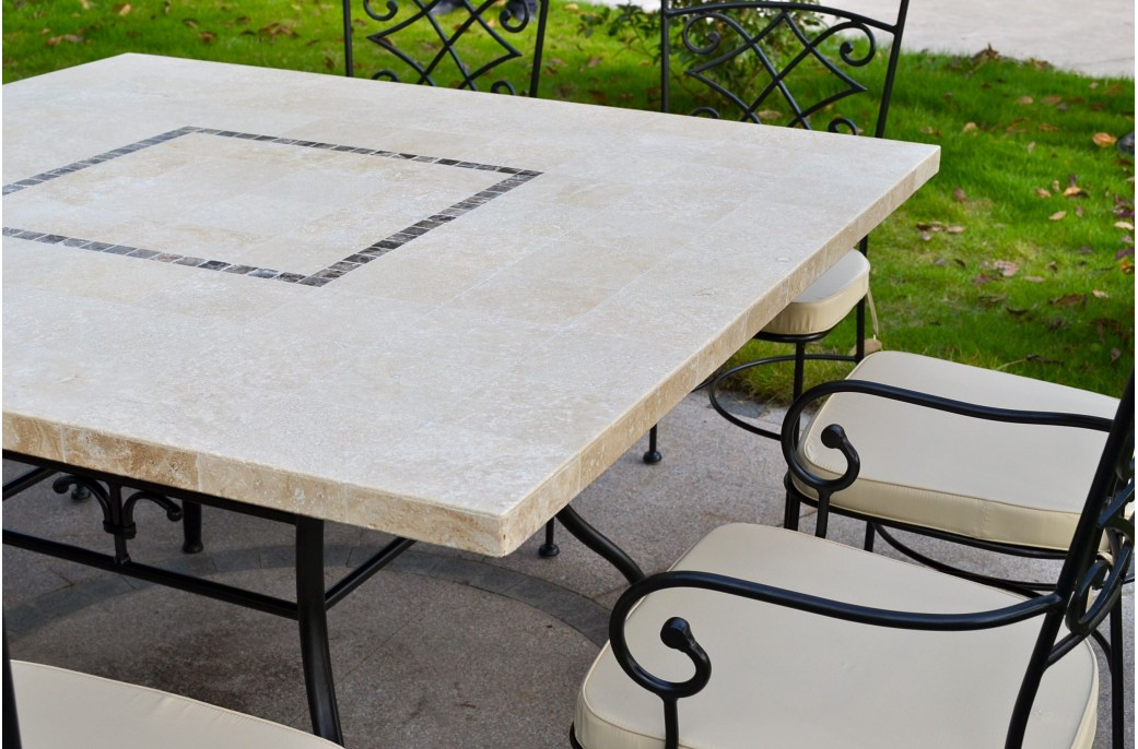 Capri table mosa que carr e pour ext rieur int rieur en for Table de jardin carree