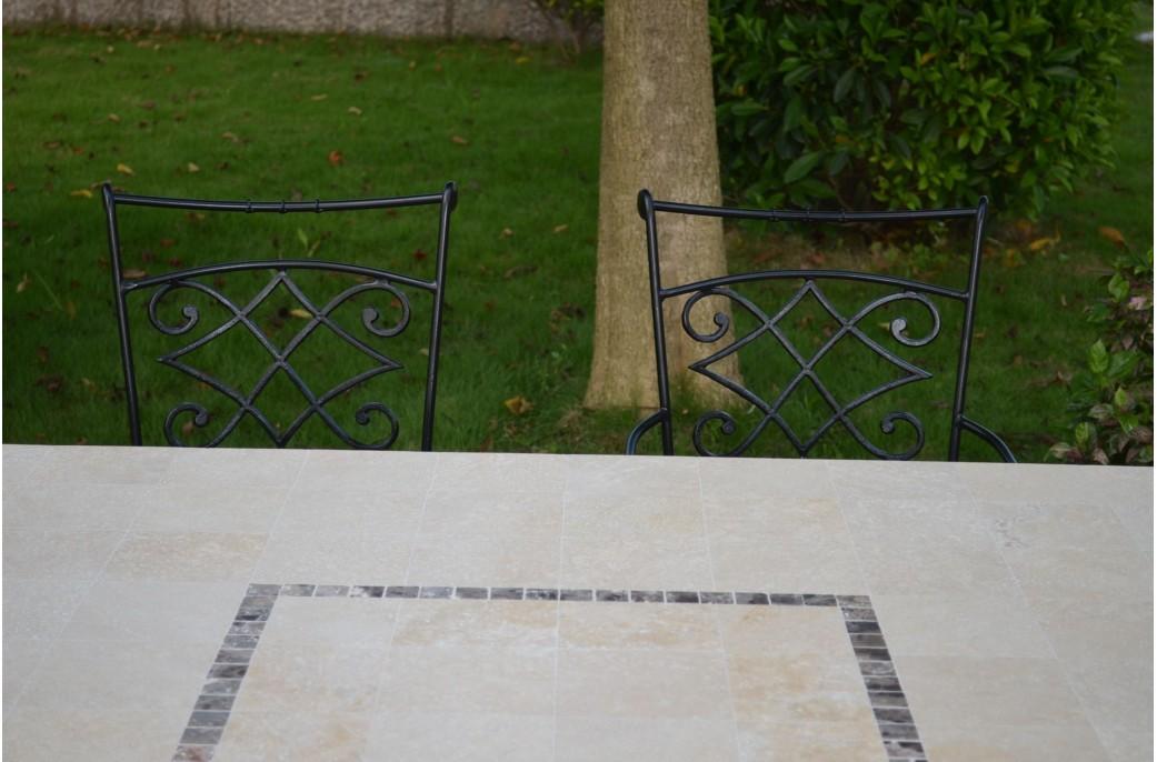 Capri table mosa que carr e pour ext rieur int rieur en for Nettoyage marbre exterieur