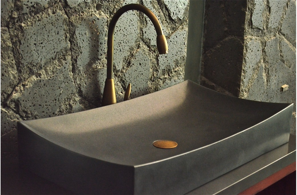 grande vasque en pierre noire to ji shadow poser 70x40. Black Bedroom Furniture Sets. Home Design Ideas