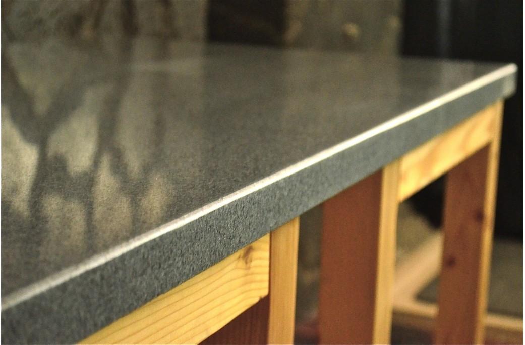 plan de travail granit gris tendance sous vasques prêt à lemploi