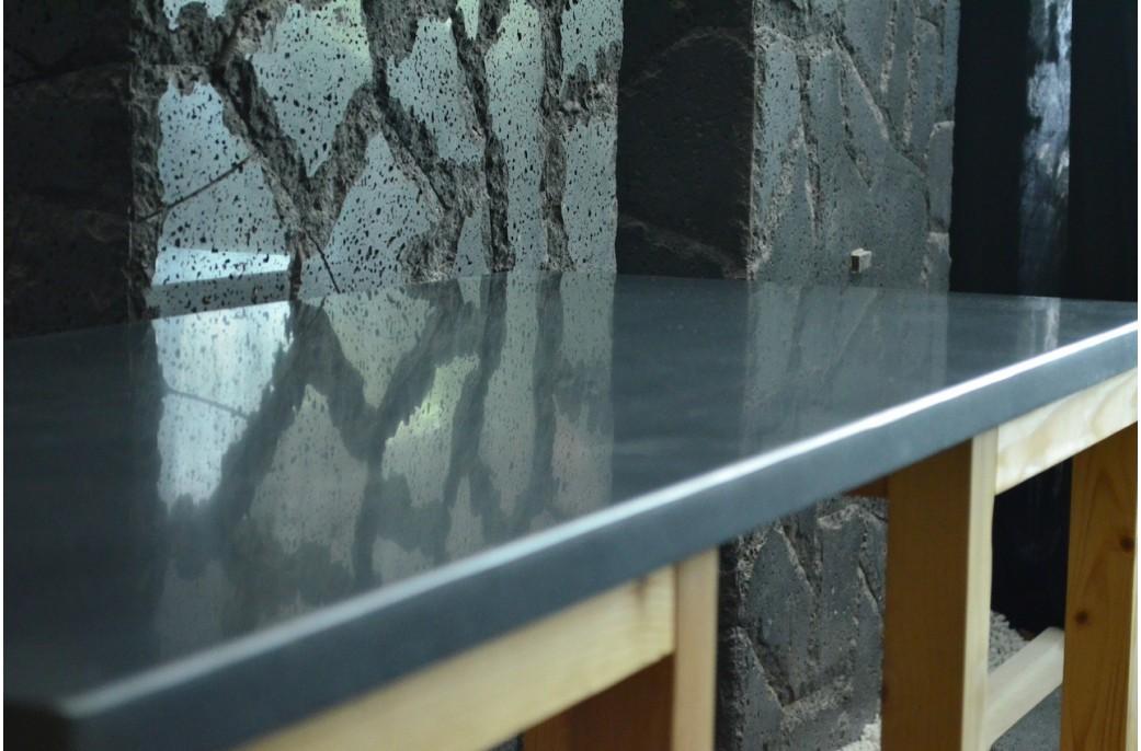 Plan de travail granit noir luxe sous vasques pr t l - Plan de travail en granit noir ...