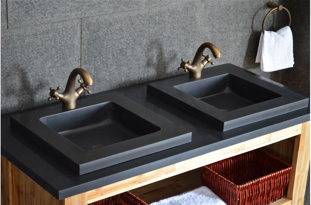 vasque en pierre noire lexa encastrable basalte haut de gamme. Black Bedroom Furniture Sets. Home Design Ideas
