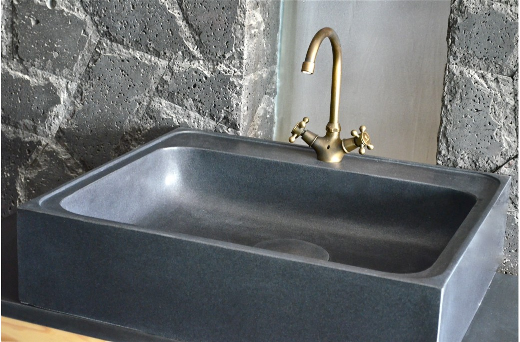 70 x 60cm vier de cuisine en granit noir v ritable lagos shadow. Black Bedroom Furniture Sets. Home Design Ideas