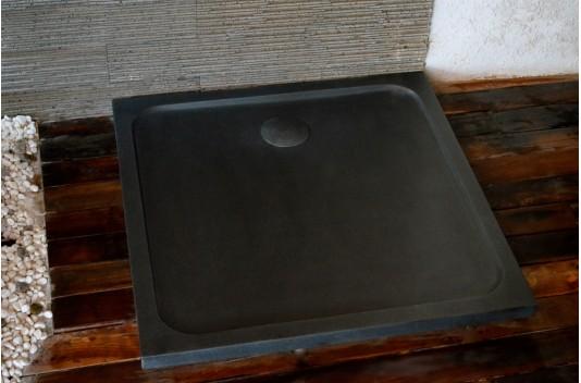 Receveur de douche pierre 100x100 granit noir - SQUARIUM SHADOW
