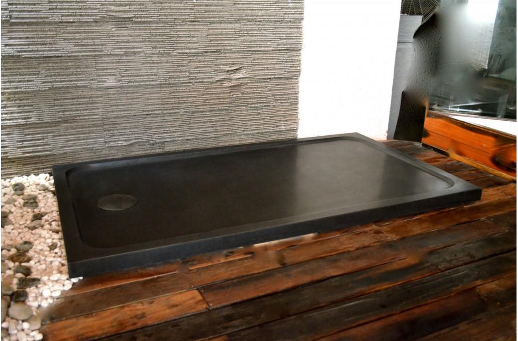 receveur de douche en pierre spacium shadow granit noir. Black Bedroom Furniture Sets. Home Design Ideas