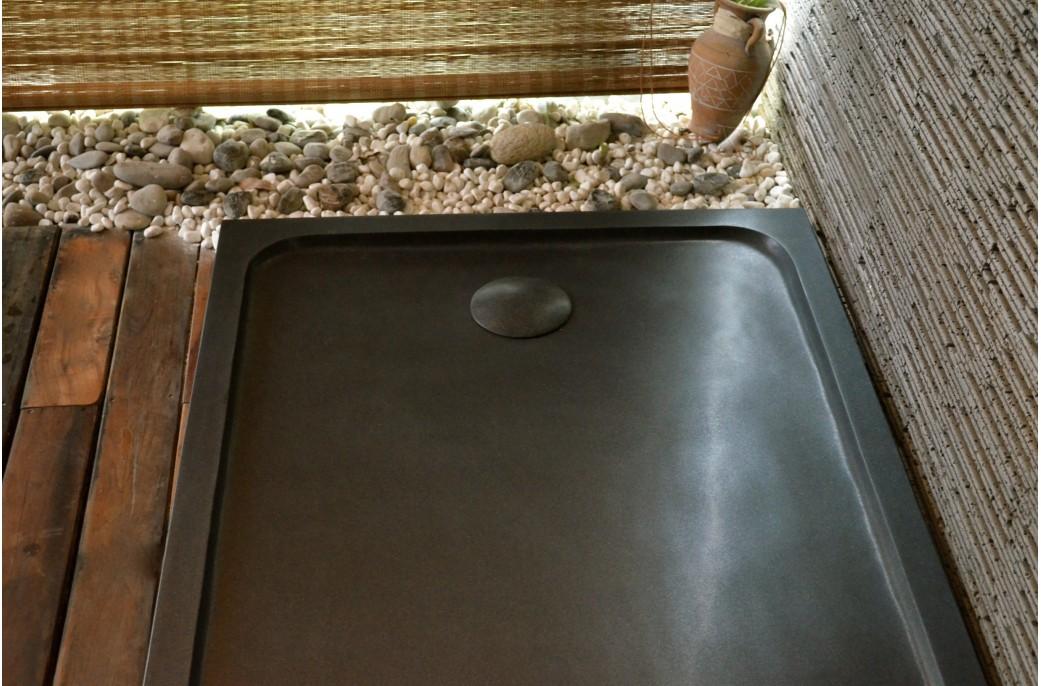 receveur de douche en pierre spacium shadow granit noir v ritable 140x90. Black Bedroom Furniture Sets. Home Design Ideas
