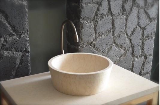 Vasque en pierre de marbre 40X15 Haut de gamme - LEAF SUNNY