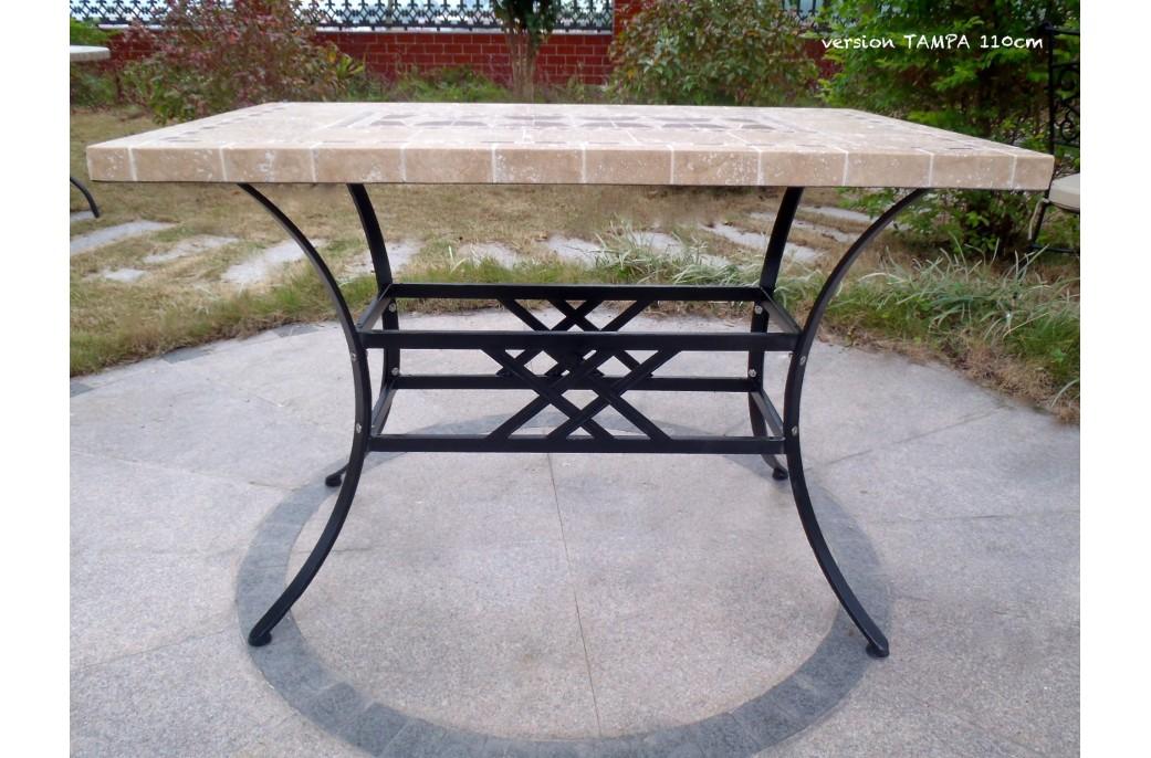Table de jardin mosa que en pierre naturelle tampa 160 et for Entretien table en marbre