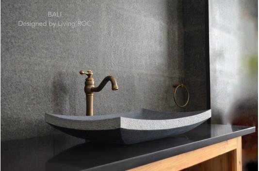 Vasque salle de bain à poser en pierre granit véritable - BALI