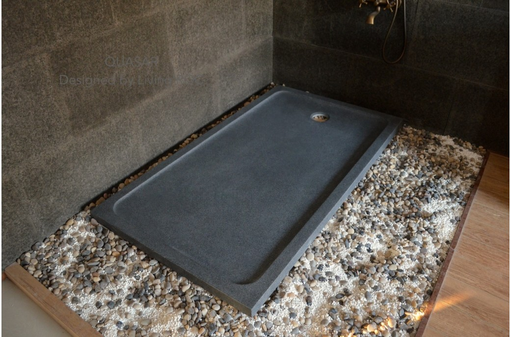 grand receveur de douche 160x90 en pierre l 39 italienne quasar