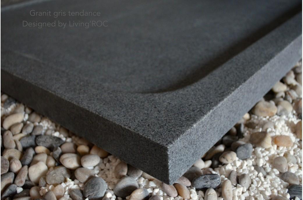 Receveur de douche design en pierre spacium granit v ritable 140x90cm - Receveur graniet ...