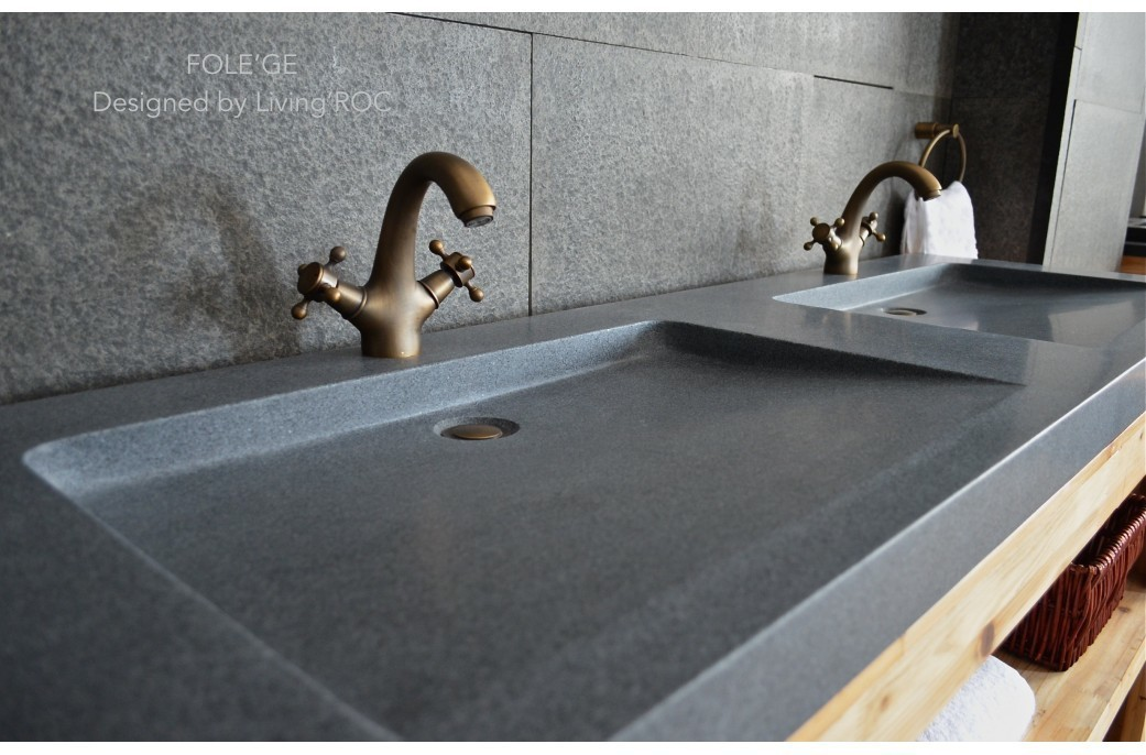 Double Vasque En Pierre Fole Ge Granit V 233 Ritable Haut De