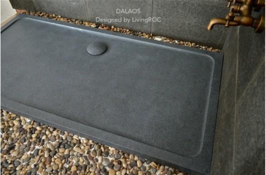 Receveur de douche 180x90 à l'italienne taillé dans le granit - DALAOS
