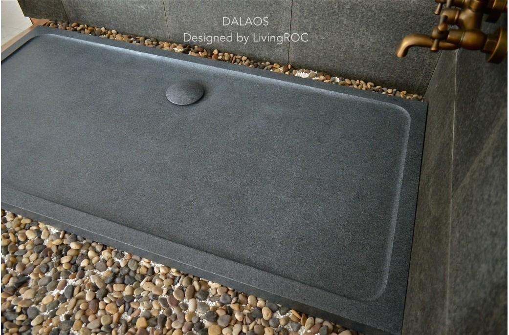 Receveur de douche en pierre DALAOS à litalienne granit
