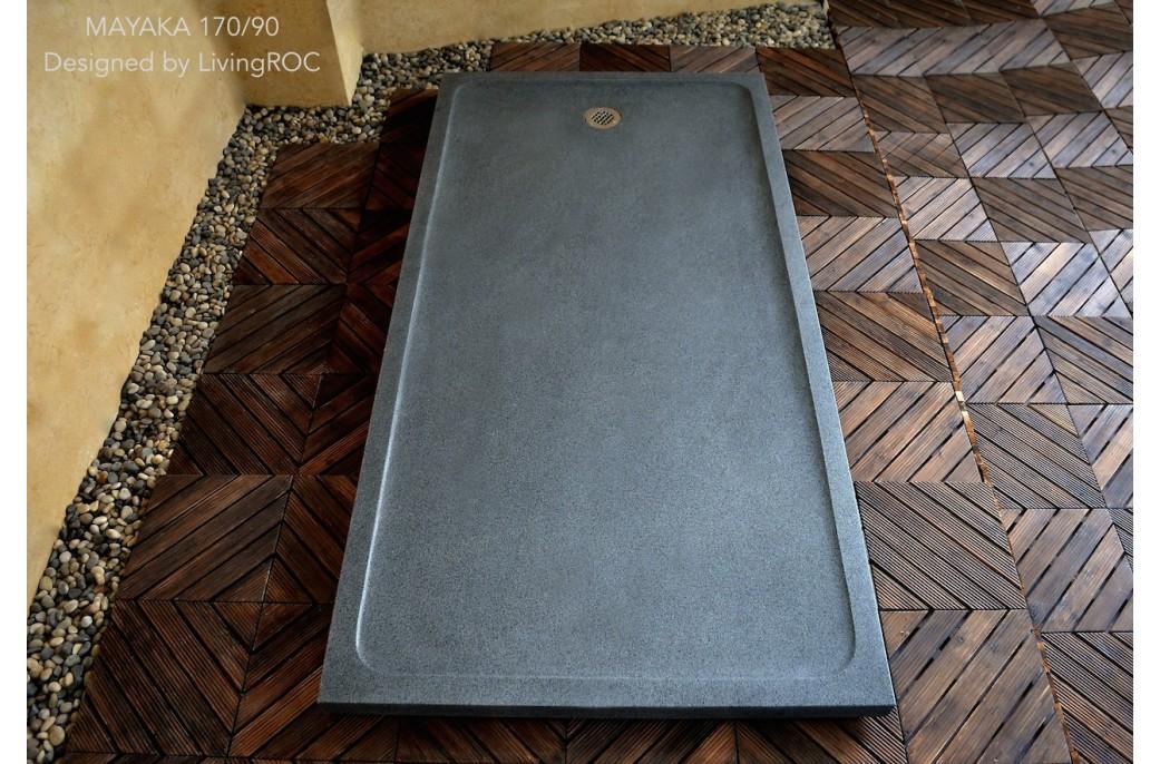 Receveur de douche en pierre mayaka l 39 italienne granit for Grande douche a l italienne