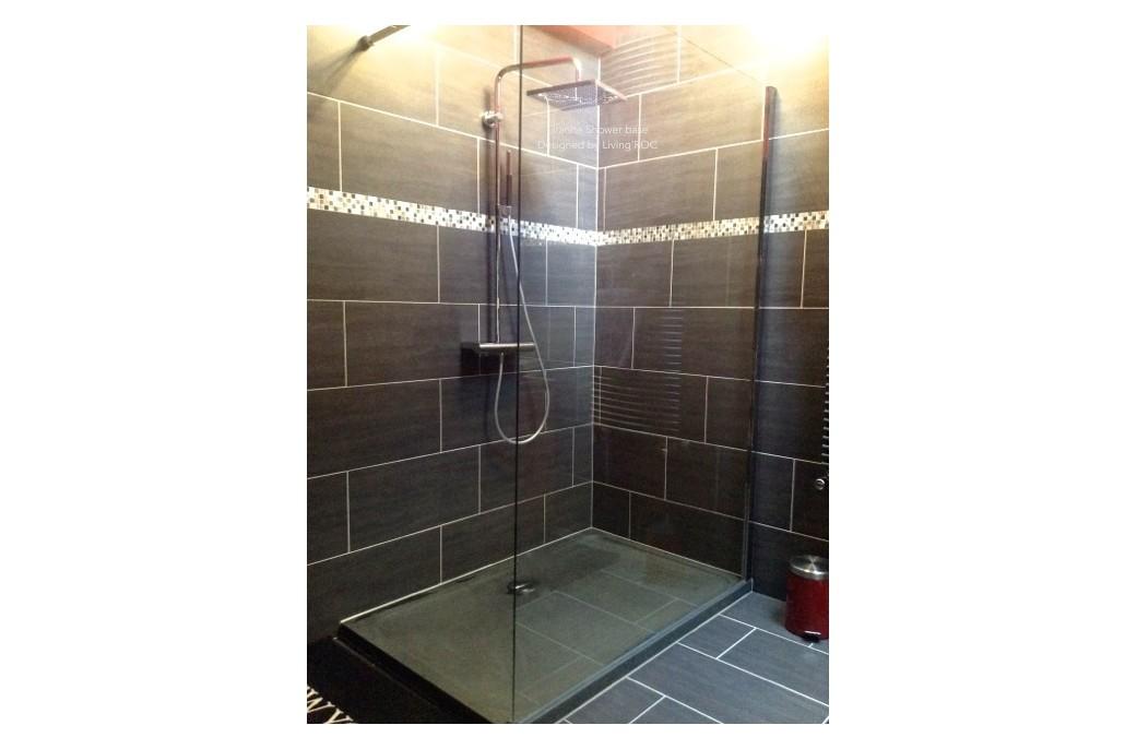 Receveur de douche en pierre palaos granit taill dans la for Douche a l italienne avec receveur