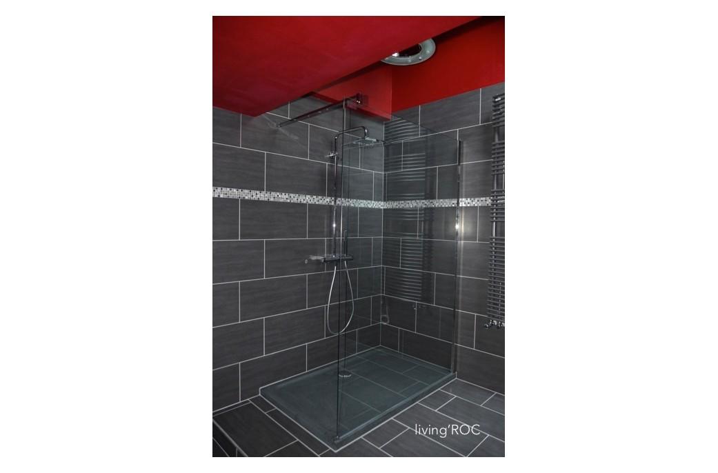 receveur de douche en pierre rubix granit taill dans la. Black Bedroom Furniture Sets. Home Design Ideas
