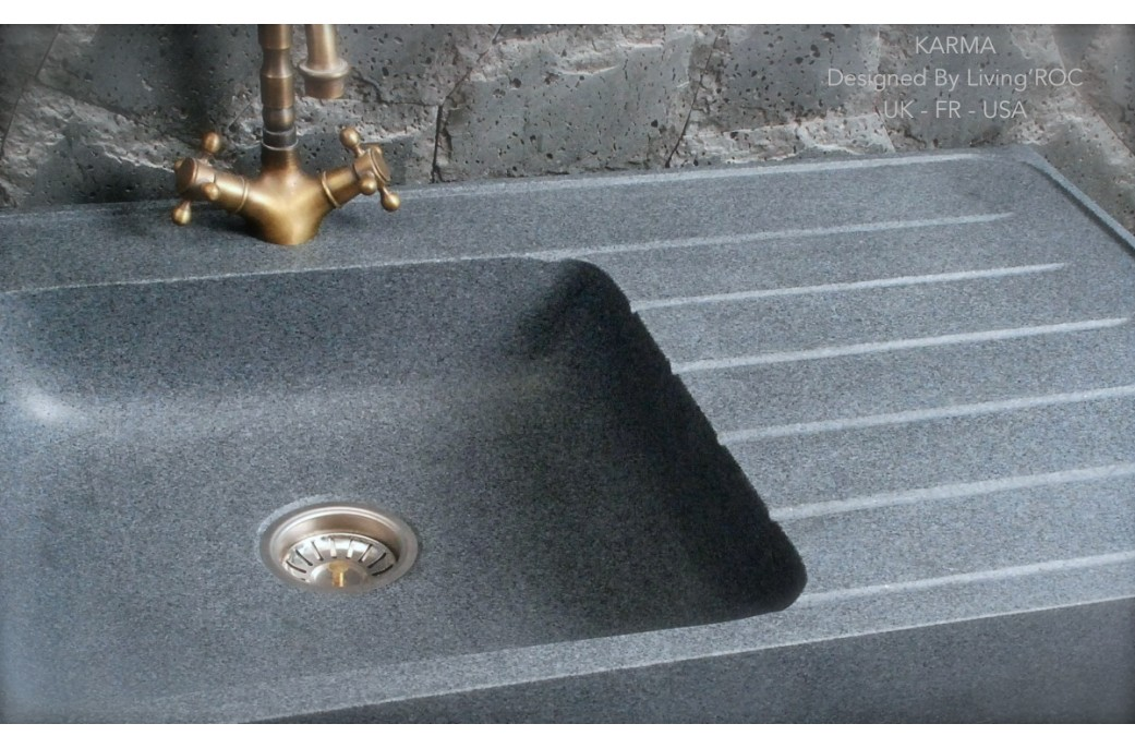 Norway vier en pierre pour cuisine granit v ritable for Evier de cuisine gris