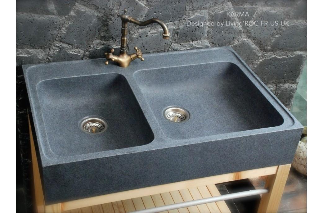 Evier de cuisine en granit blanc - Evier granit de design moderne par schock ...