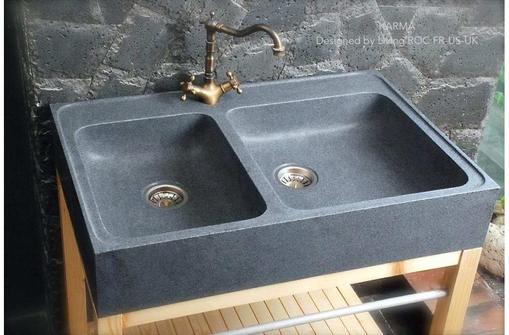 Evier de cuisine en granit blanc pr l vement d 39 chantillons et une bonne id e de for Evier de cuisine granit blanc