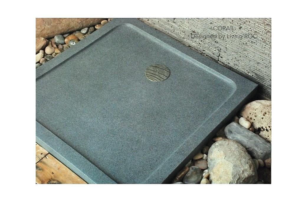 80x80 receveur de douche l 39 italienne pierre granit v ritable corail - Receveur de douche a l italienne ...