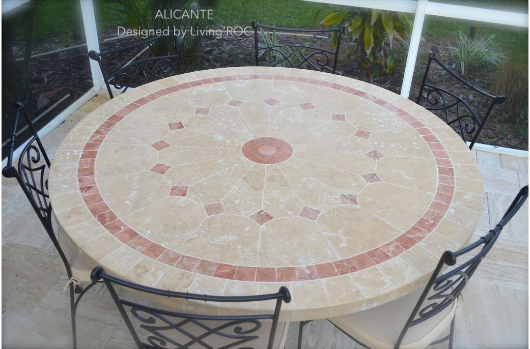 Table De Jardin Mosaique De Marbre Des