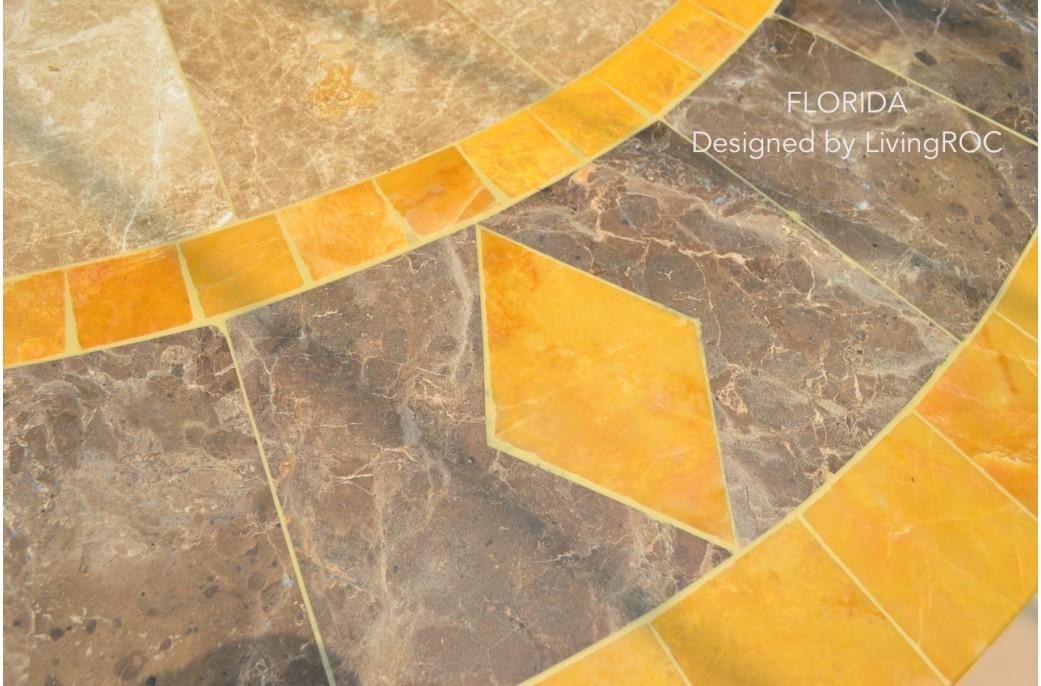 Awesome table de jardin ronde orange images amazing - Table ronde exterieure ...