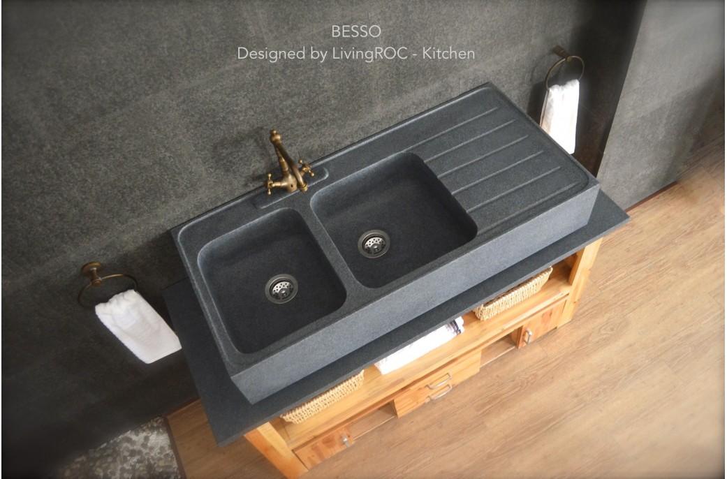 vier cuisine granit evier rond blanc evier rond granit clarus versions evier cuisine noir avis. Black Bedroom Furniture Sets. Home Design Ideas