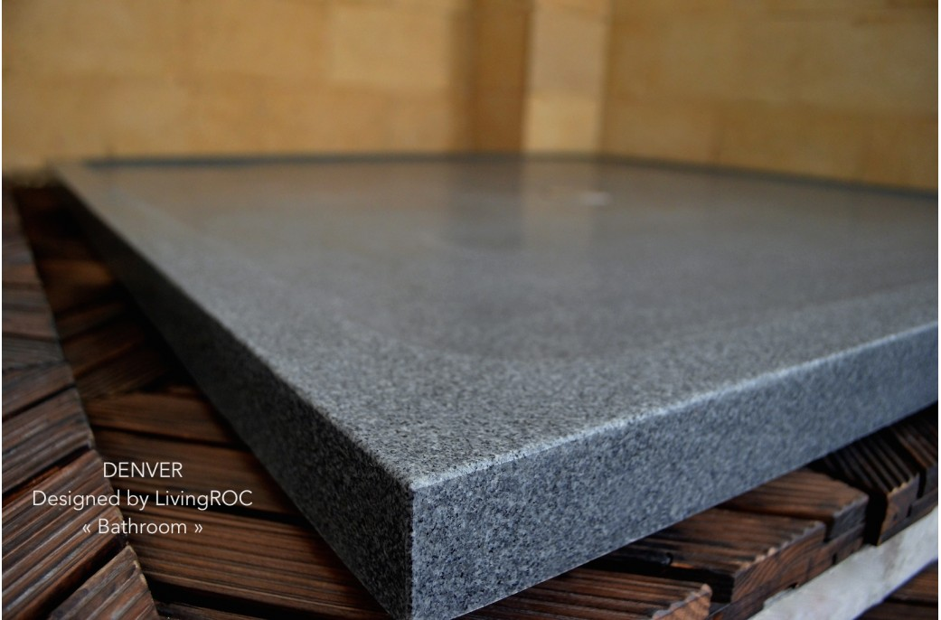 receveur de douche 107x107 en pierre granit extra plat chicago. Black Bedroom Furniture Sets. Home Design Ideas