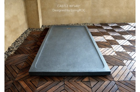 Receveur de Douche Pierre Géant 200x100 taillé dans le granit - CASTLE