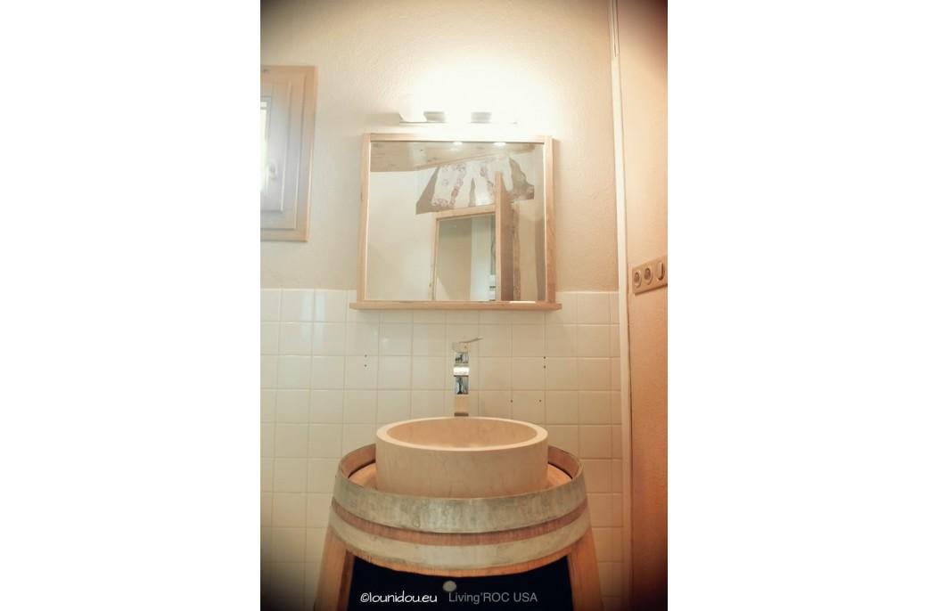 vasque en pierre ronde rondo sunny dia 40 marbre gyptien haut de gamme living 39 roc. Black Bedroom Furniture Sets. Home Design Ideas