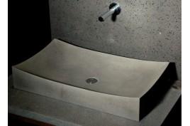 Grande vasque en pierre noire TO JI SHADOW à poser 70x40 Black ...