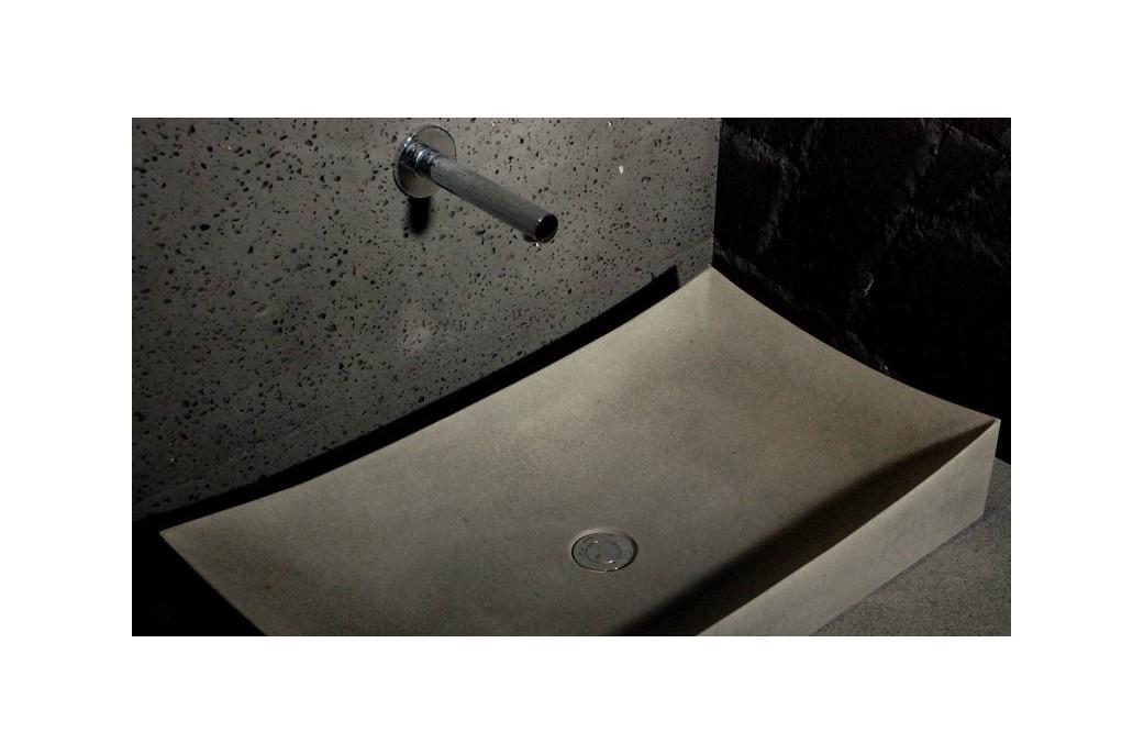 70x40 grande vasque salle de bain pierre basalte gris toji. Black Bedroom Furniture Sets. Home Design Ideas