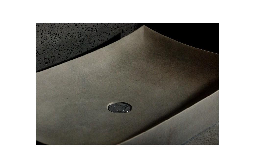 70x40 Grande vasque salle de bain pierre Basalte gris - TOJI