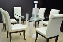 Table salle à manger en marbre Persan - NAXOS