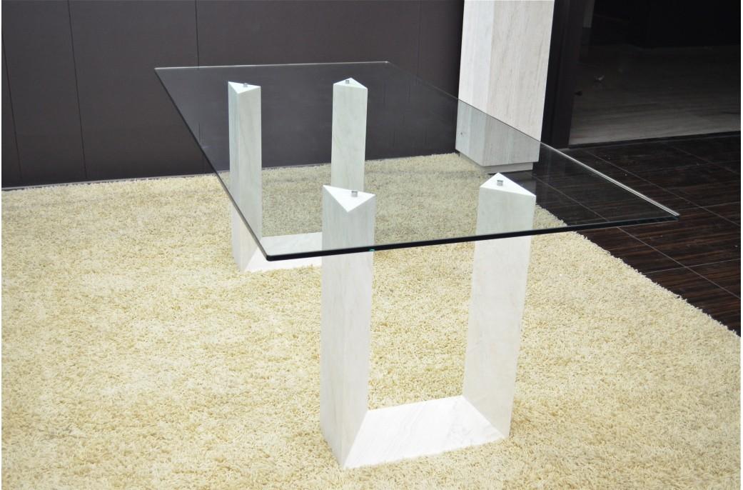 naxos table salle manger en marbre travertin persan living 39 roc. Black Bedroom Furniture Sets. Home Design Ideas