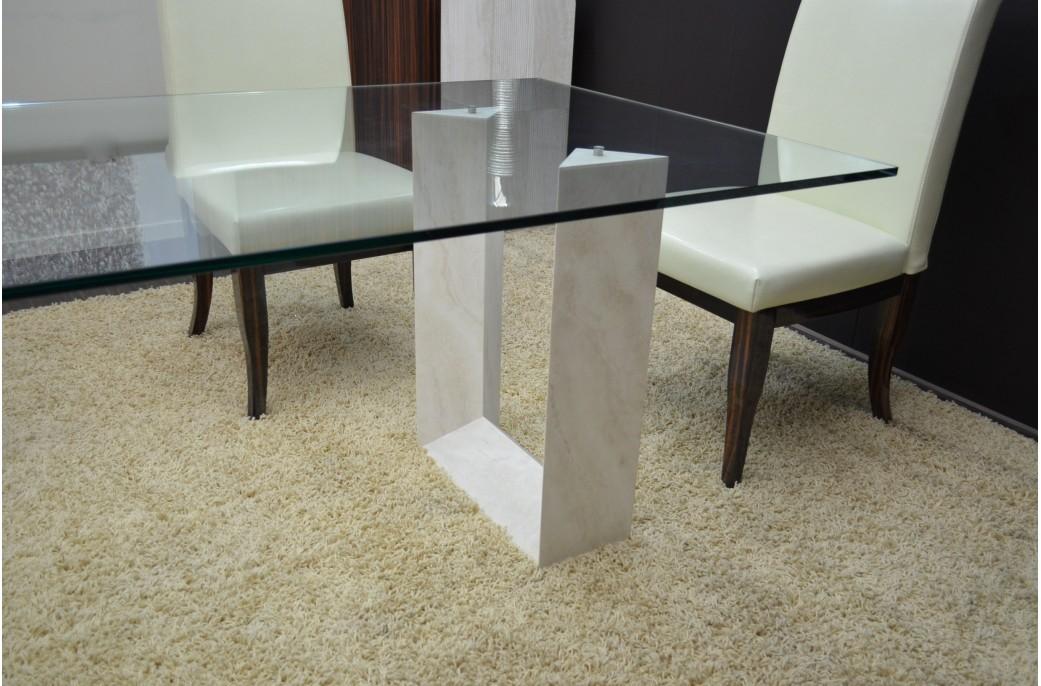 naxos table salle manger en marbre travertin persan. Black Bedroom Furniture Sets. Home Design Ideas