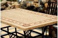 Table mosaique marbre pierre naturelle 120-160-200-240 TOSCANE
