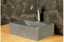 Lave mains en pierre naturelle 32x27 granit véritable BALTIC