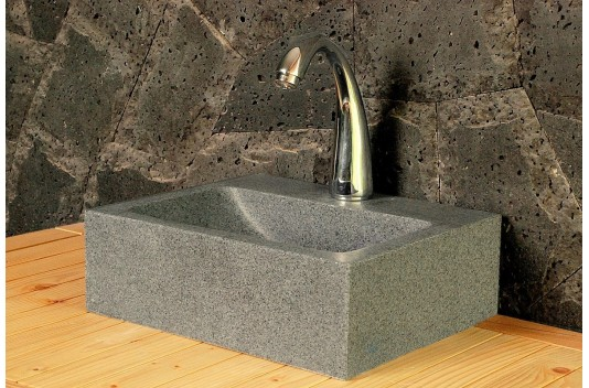 Lave-mains en pierre 32x27 granit véritable - BALTIC