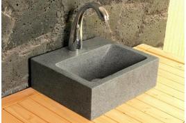 Lave mains en pierre naturelle 32x27 granit véritable BALTIC